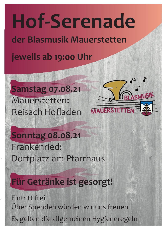 Hof-Serenade Frankenried